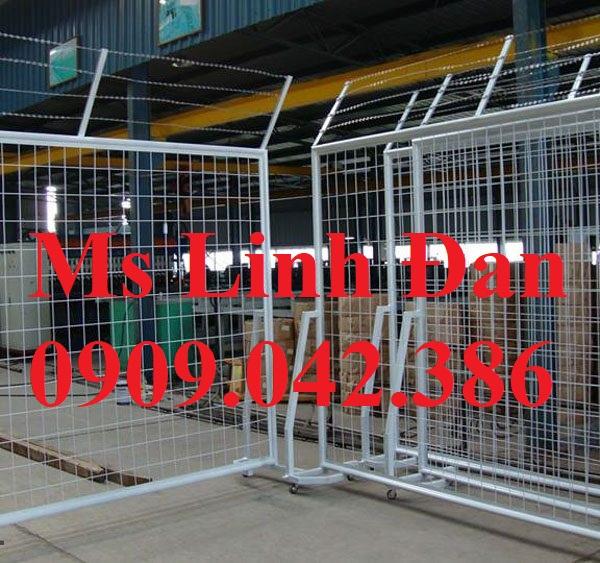 lưới thép hàng rào di động, lưới thép hàng rào chắn đám đông, - 4